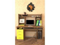 Компьютерный стол Мебелеф – 34 желтый