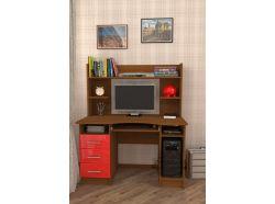 Компьютерный стол Мебелеф – 38 красный