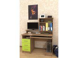 Компьютерный стол Мебелеф – 39 зеленый