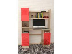 Компьютерный стол Мебелеф – 20 красный