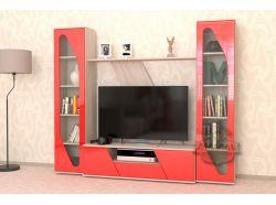 Стенка Мебелеф – 10 красный