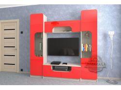 Стенка Мебелеф – 12 красная