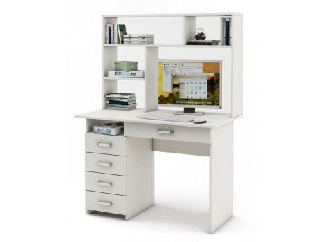 Письменный стол Лайт-4Я с надстройкой