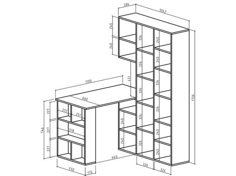 Стеллаж Феликс-1 + стол Феликс-5