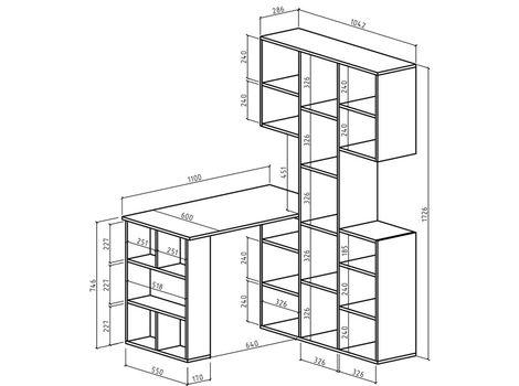 Стеллаж Феликс-3 + стол Феликс-5