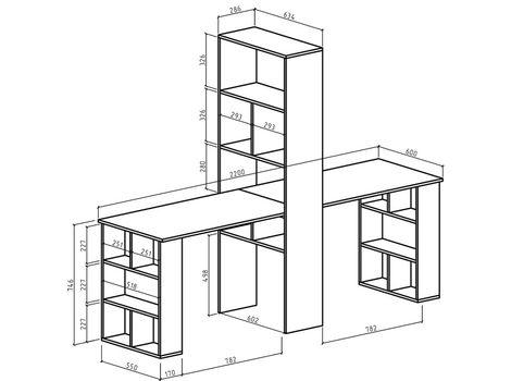 Стол стеллаж Феликс-455
