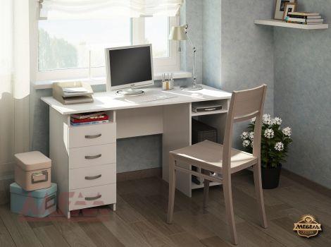 Стол белый компьютерный Милан-6