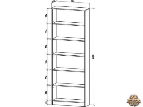 Книжный шкаф 800 Верона-1 высота 2200
