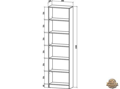 Книжный шкаф 600 Верона-2 высота-2200