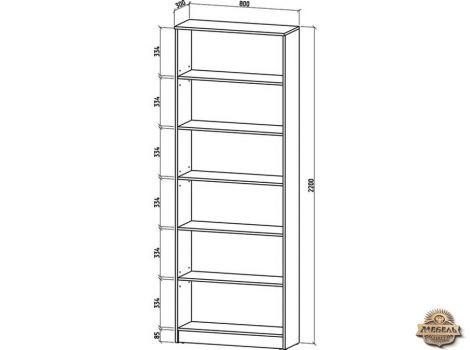 Книжный шкаф 800 Верона-2 высота 2200