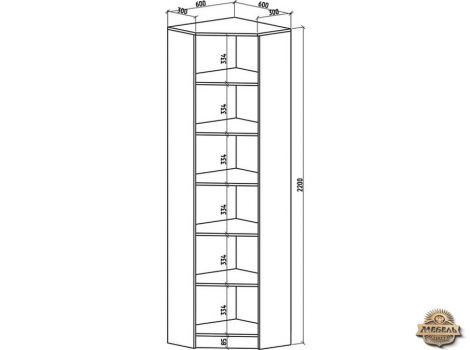 Угловой шкаф Верона-2 2200*600*600