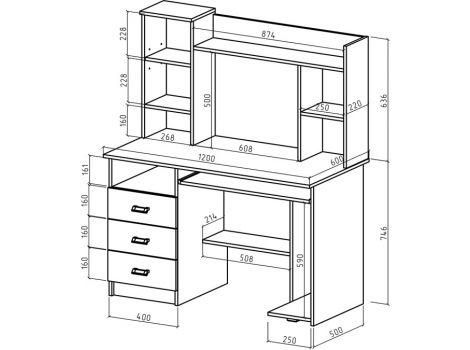 Компьютерный стол Имидж-17