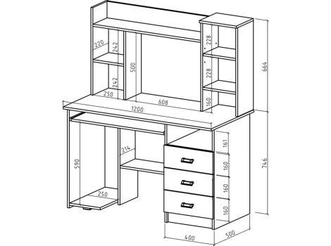 Компьютерный стол Имидж-18