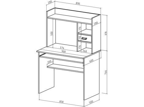 Компьютерный стол Имидж-30