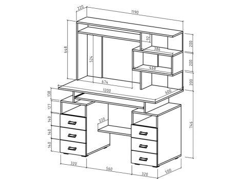Компьютерный стол Имидж-45