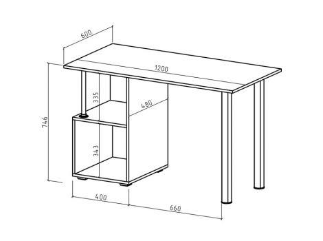 Компьютерный стол Имидж-63
