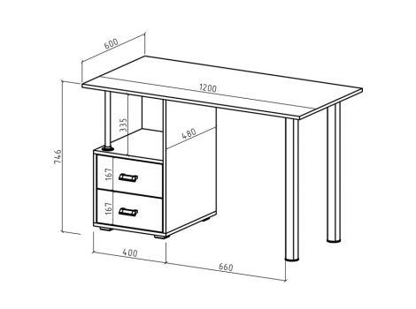 Компьютерный стол Имидж-67