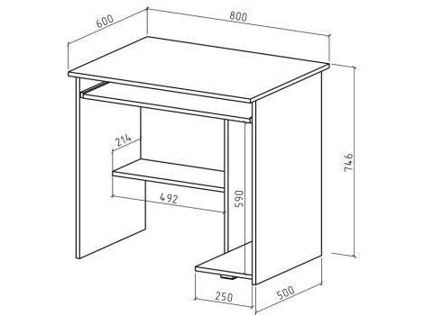 Компьютерный стол Имидж-6