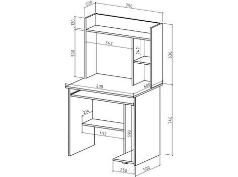 Компьютерный стол Имидж-8