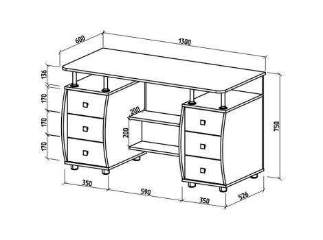 Компьютерный стол Карбон-4