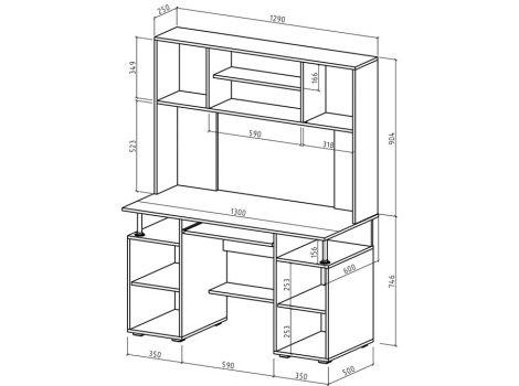 Компьютерный стол Амбер-17 схема