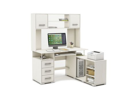 Компьютерный стол Амбер-24 белый