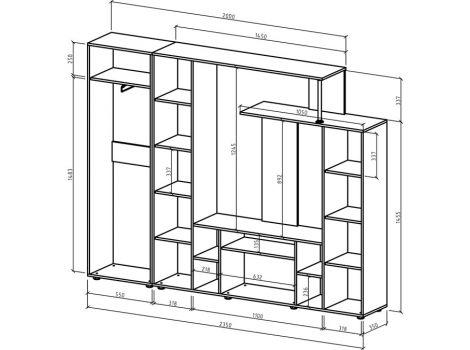 Стенка Остин-3 схема