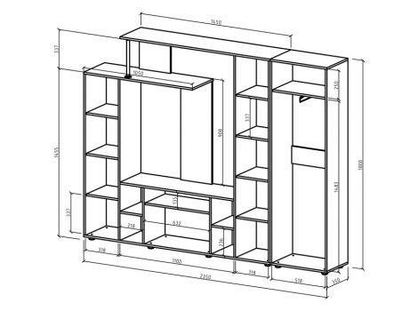 Стенка Остин-4 схема