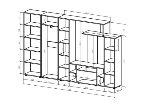 Стенка Остин-5 схема